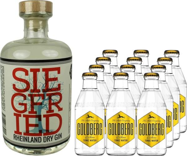 Siegfried Rheinland Gin 0,5l mit 12x Goldberg Tonic Water 0,2l