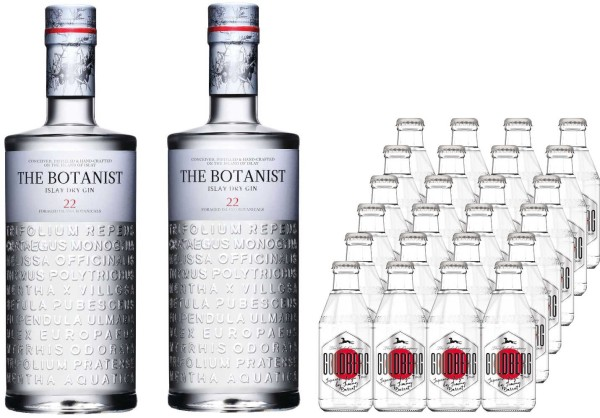 2x The Botanist Gin 0,7l mit 24x Goldberg yuzu 0,2l