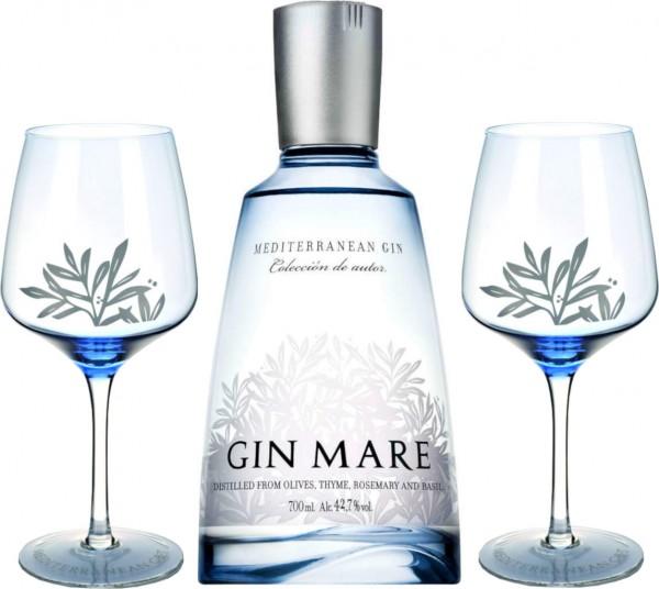 Gin Mare 0,7l mit 2 Copagläsern