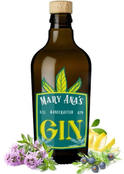 Mary Anas Hanfcrafted Gin 0,5l