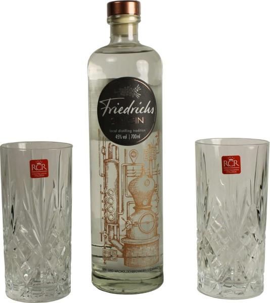 Friedrichs Dry Gin 0,7l inkl. 2 Gläser