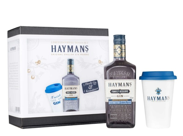 Haymans Family Reserve Gin 0,7l mit Kaffeebecher