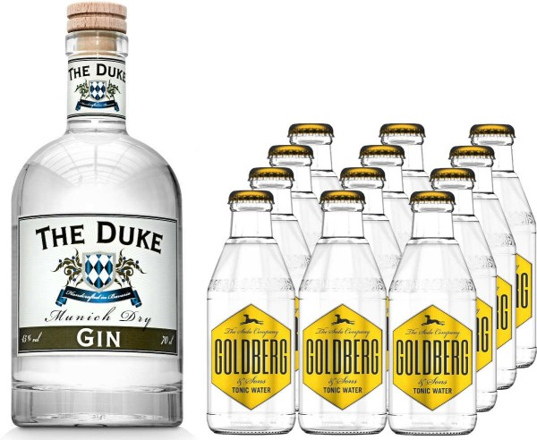 The Duke Gin 0,7l mit 12x Goldberg Tonic Water 0,2l
