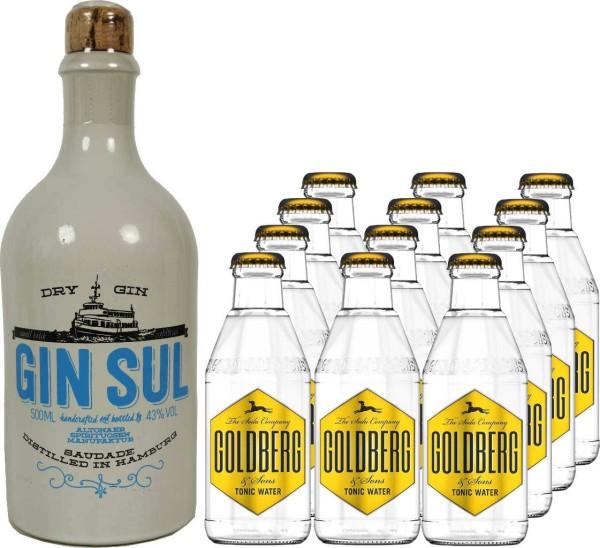GIN SUL 0,5l mit 12x Goldberg Tonic Water 0,2l