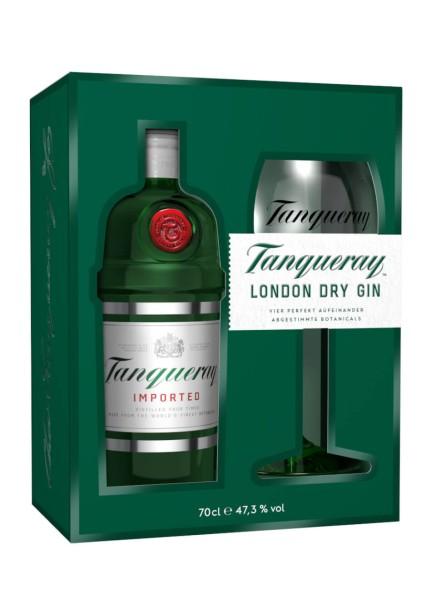 Tanqueray Gin 0,7 Liter mit Copa Glas
