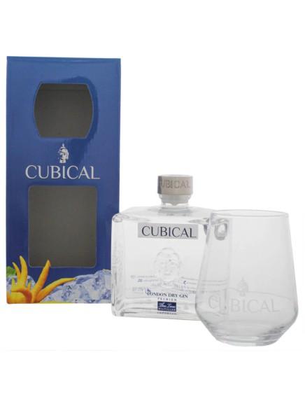 Cubical Premium Gin 0,7 Liter mit Glas