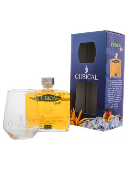 Cubical Premium Special Dry Gin Mango 0,7 Liter mit Glas