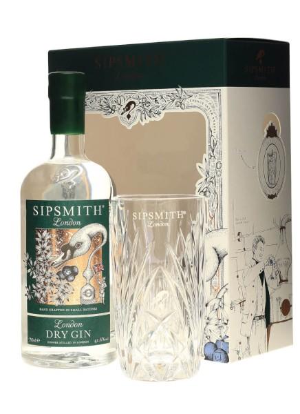 Sipsmith London Dry Gin 0,7l in Geschenkpackung mit Glas